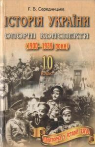 Історія України. Опорні конспекти. (1900-1939 рр.) 10 клас