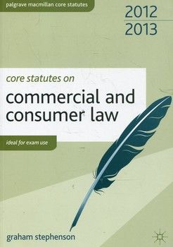 Core Statutes on Commercial and Consumer Law